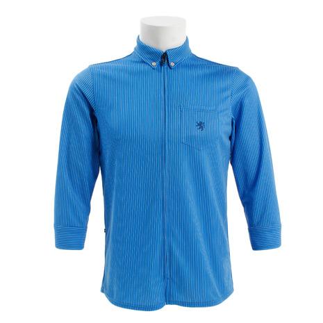 カペルミュール(KAPELMUUR) CPシャツペンシルストライプ ブルー kpls088 (メンズ)