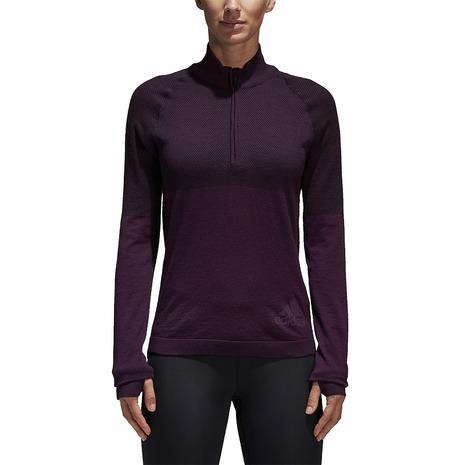 アディダス(adidas) ULTLA CLIMAHEAT ハーフジップシャツ BQ9348 (Lady's)