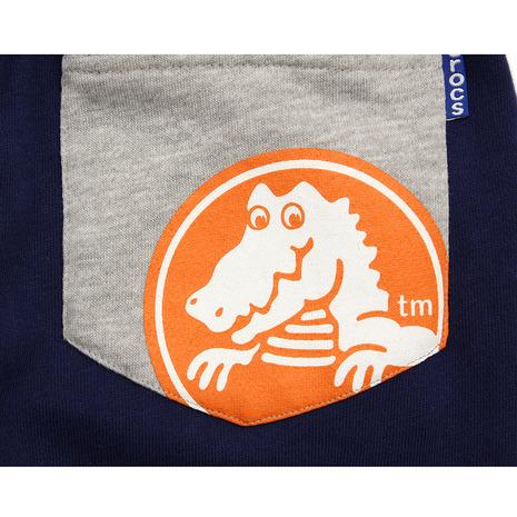 クロックス(crocs) ロゴ裏毛パンツ cr115366NV16S (Jr)
