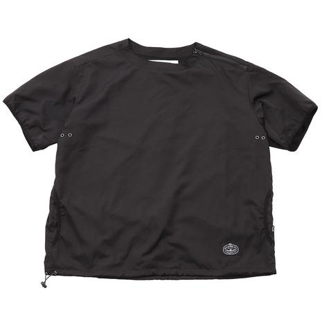 POLER NYLON BAGGY クルーネック半袖Tシャツ 55100124-BLKL (メンズ)