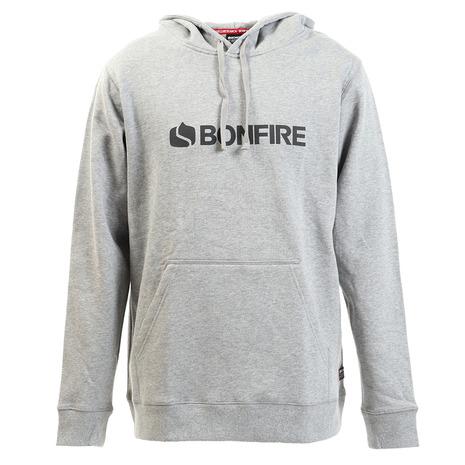ボンファイア(Bonfire) フーデッドプルオーバーパーカー 50BNF10FCD2053 GRY (Men's)