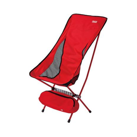 コールマン(Coleman) リーフィーチェアハイバック 折りたたみ椅子 2000026742 レッド (Men's、Lady's)