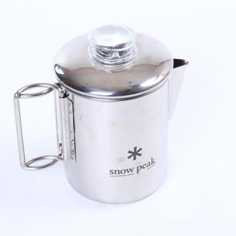 スノーピーク(snow peak) ステンパーコレーター 6カップ Stainless-steel Coffee Percolator 6 Cups PR-006 キャンプ コーヒー 調理器具 (メンズ、レディース)