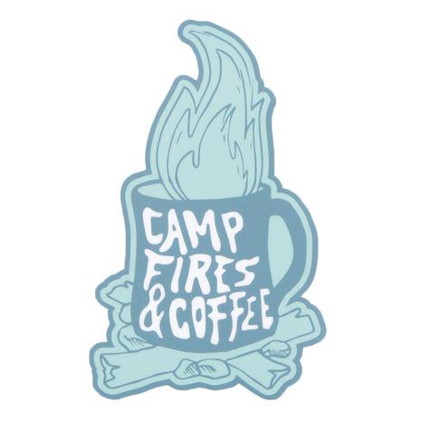 ノーブランド 激安特価品 NO BRAND ステッカー 25%OFF CAMP FIRES Lady's Men's 7SNW0283LSTK Jr COFFEE