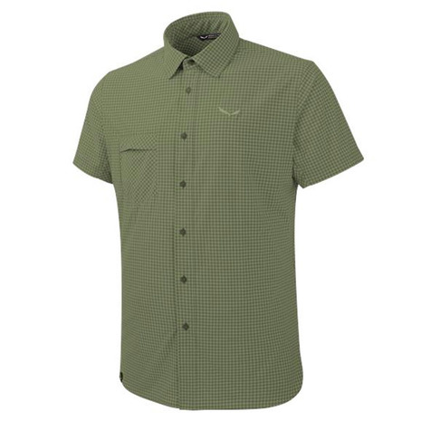 サレワ(SALEWA) PUEZ MINI CHECK DRY M S/S SHIRT 26587 5758 M MINI CHECK C.OLIVE メンズ 半袖シャツ (Men's)