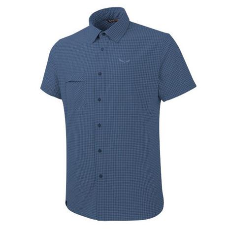 サレワ(SALEWA) PUEZ MINI CHECK DRY M S/S SHIRT 26587 8746 M MINI CHECK DARK DE メンズ 半袖シャツ (Men's)