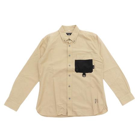 TONEDTROUT 草木染ボタンダウンシャツ TT1910-SH02 yellow (Men's)