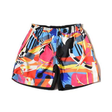 メーカーブランド(BRAND) エルドレッソ ELDORESO ペイント トレイル パンツ Paint Trail Pants E2100126 PINK ショートパンツ (Men's)