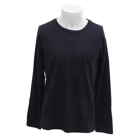 SAVE ウール 長袖Tシャツ WKM-002 NAVY (Men's)