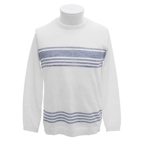 メーカーブランド(BRAND) 12GギアサスペックCN ボーダー 長袖Tシャツ 81010150 001 (Men's)