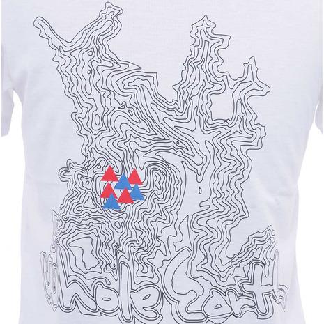 ホールアース(Whole Earth) MENS TREASURE MAP TEE メンズ 半袖Tシャツ WES17M02-5706 WHT (Men's)