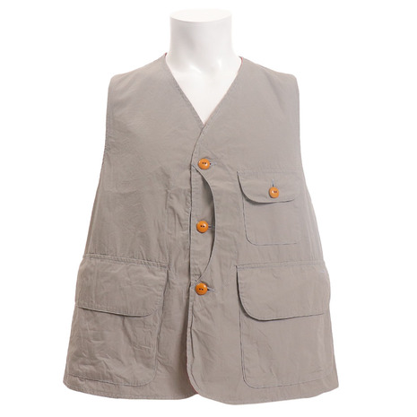 バンブーシュート(BAMBOO SHOOTS) Typewriter Cloth Hunter Vest 1901023-GREY (Men's)
