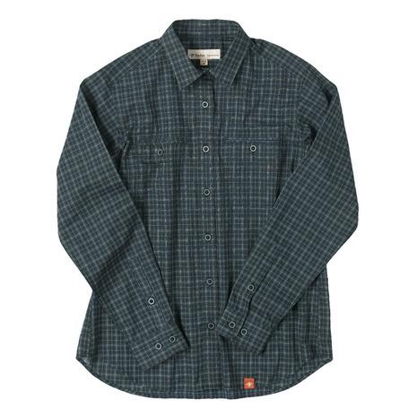 フォックスファイヤー(Foxfire) TSタイニーチェックシャツTS Tiny Check Shirt 8212816-046 ネイビー (Lady's)