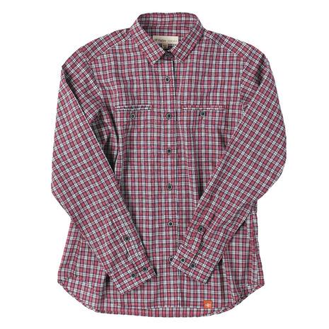 フォックスファイヤー(Foxfire) TSタイニーチェックシャツTS Tiny Check Shirt 8212816-080 レッド (Lady's)