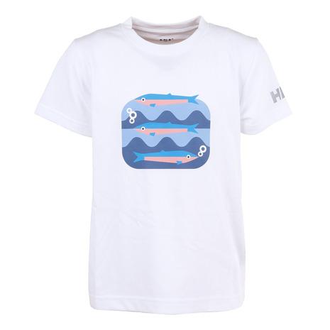 ヘリーハンセン HELLY 送料無料カード決済可能 HANSEN ジュニア 半袖Tシャツ 半額 ショートスリーブフィスクTシャツ キッズ W HJ62007