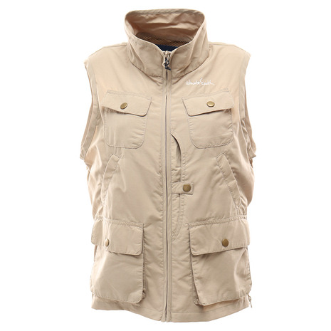 ホールアース(Whole Earth) WOMENS UTILITY POCKETABLE VEST レディース ベスト WES17W02-5102 KHK (Lady's)