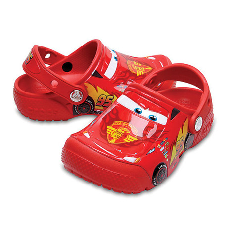<title>キャンプ お得セット トレッキング アウトドア用品のL-Breath エルブレス クロックス crocs fun lab Cars clog kids 204116-8C1 Flame サンダル Jr</title>