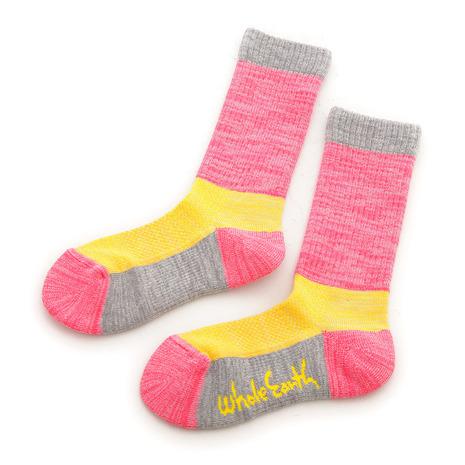 ホールアース(Whole Earth) キッズ ソックス Kids Socks WES17K03-7304 Pink 靴下 (Jr)