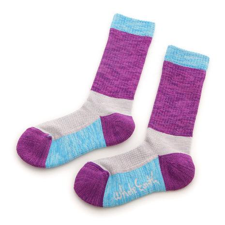 ホールアース(Whole Earth) キッズ ソックス Kids Socks WES17K03-7304 Purple 靴下 (Jr)