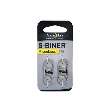 NITE-IZE ナイトアイズ NITE-IZE Sバイナー マイクロロック ステンレスシルバー(2個セット) LSBM-11-2R3 (Men's、Lady's)