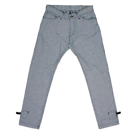 リンプロジェクト(rin project) ストレッチサイクルロングパンツ 裾止めクリップ内臓 尻当て補強付き パンツ 3022 チドリ柄 (Men's、Lady's)