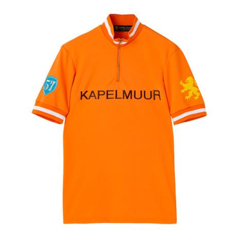 カペルミュール(KAPELMUUR) 半袖レトロジャージ 半袖シャツウエア kphs052 オレンジ (Men's、Lady's)
