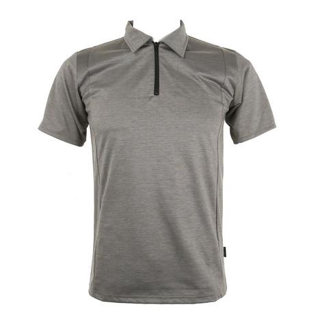 リンプロジェクト(rin project) ジップポロ コットンxライクラ ポロシャツ 2111 GRAY (Men's)