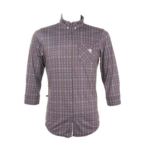 カペルミュール(KAPELMUUR) クロップドシャツ 七分袖サイクルジャージ スモーキーチェック kpls043 長袖ジャージ  (Men's、Lady's)