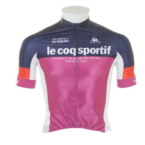 ルコック スポルティフ(Lecoq Sportif) 半袖シャツ レースジャージ QC-740461 NVY ネイビー (Men's)