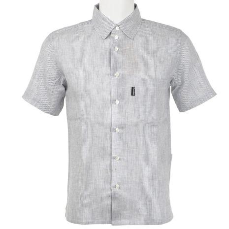 リンプロジェクト(rin project) フレンチリネンシャツ 半袖シャツ ウエア 2113 White (Men's、Lady's)