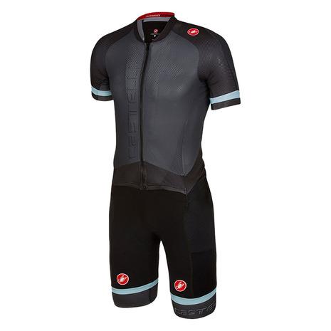 カステリ(Castelli) Sanremo 3.2 SPEED SUIT 17001-009 ANTHRA サイクルスーツ ワンピース パンツ (Men's)