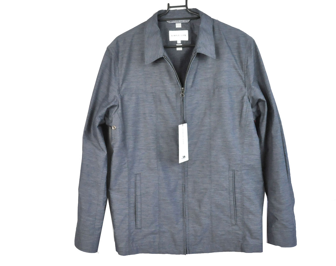 SIMPLE LIFE ジャケット メンズ シンプルライフ ジャケット アウター シャツ ポリエステル・麻 Lサイズ(身長175cm-185cm チェスト96-104)ジャケット レナウン800-0482