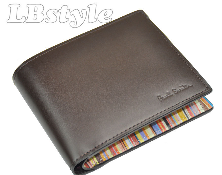 ポールスミス 財布 メンズ paulsmith 財布 メンズ ポール・スミス マルチストライプ牛革 二つ折り財布 ポールスミス900-0613