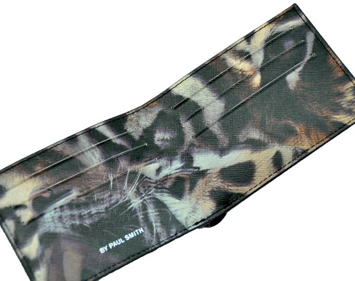 財布 ポールスミス メンズ 財布 PS by paulsmith 牛革プリント 二つ折り財布 紳士財布 ポールスミス900-0009