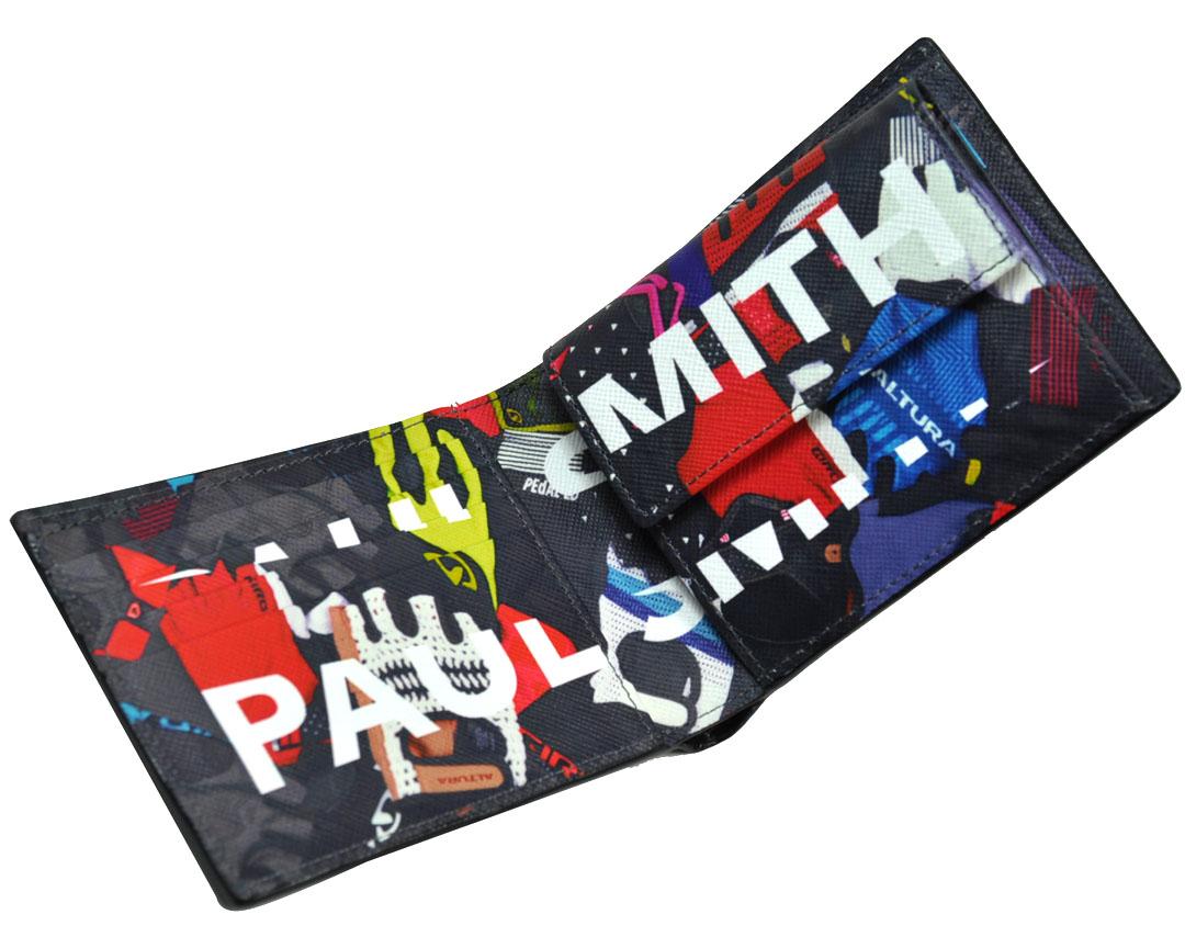 ポールスミス 財布 メンズ ポールスミス メンズ 財布 paulsmith メンズ サイクルグロP牛革 プリント 二つ折り財布 ポール・スミス 小銭入れ付き 紳士財布 ポールスミス900-0827