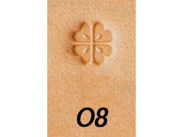 新作続 オリジナルスタンプ O8 6mm メール便選択可 クラフト社 刻印 人気急上昇 レザークラフト刻印 A~Z