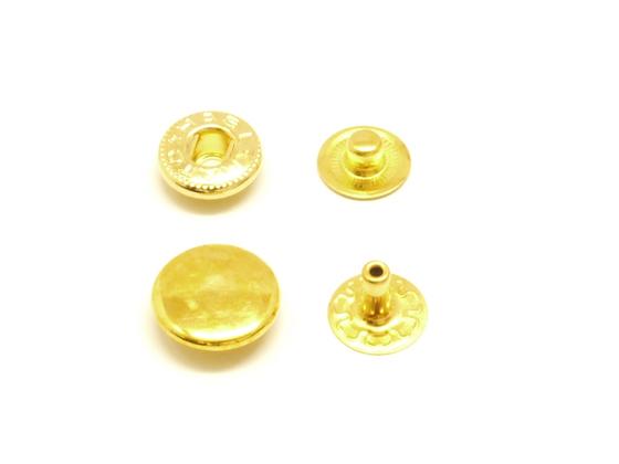 【箱売り】バネホック 中 ゴールド φ11.5mm|足の長さ6mm 2000ヶ【送料無料】 [協進エル] レザークラフトまとめ買い(業販) ホック箱売り