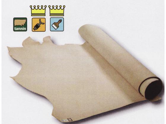 SCカービング用B ナチュラル 約230デシ 2.5mm デシ単価167円(税込) 半裁【送料無料】 [クラフト社] [価格変動品] レザークラフト半裁・1枚革 牛ヌメ革(無地)
