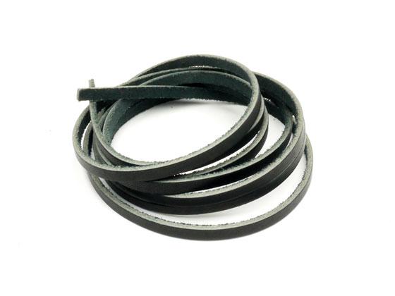 メイルオーダー 黒ヌメレース 黒 5mm巾×180cm 2.0mm厚 1本 ぱれっと ヌメ革レース メール便選択可 レザークラフト革ひも 出群 レース