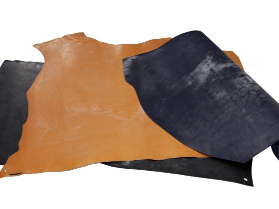 イングリッシュブライドル(ショルダー) ブラック/チョコレート/タン/ネイビー/グリーン 約95デシ 2.0mm前後 デシ単価253円(税込)【送料無料】 [協進エル] [価格変動品] レザークラフト半裁・1枚革 牛ヌメ革(カラー)