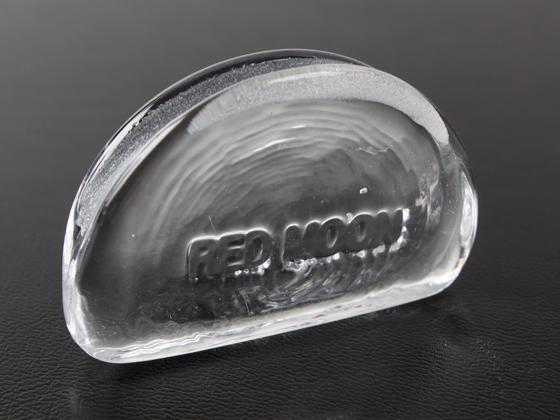 【REDMOON】 ハンドメイド ガラススリッカー クリアー H31×W50×D13mm【送料無料】 [クラフト社] レザークラフト工具 コバ磨き コバ塗り