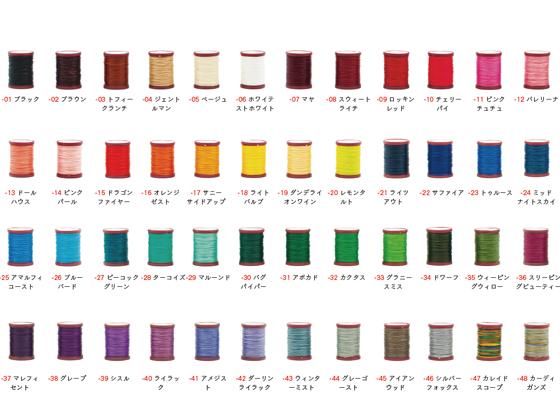 六花 リゥファ 5%OFF ポリエステル糸 全48色 0.5mm×約50m クラフト社 糸 日本最大級の品揃え レザークラフト工具