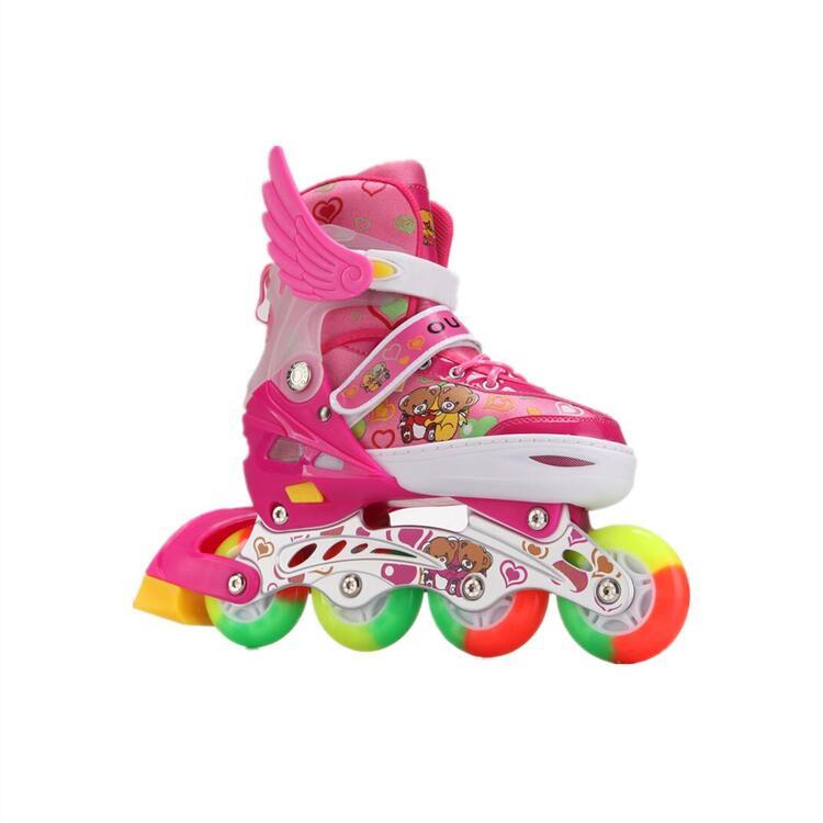 インラインスケートシューズ 光ウィール 子供用 インラインスケートシューズ 光ウィール 子供用 サイズ調整可能 スケートシューズ お得セット アウトドアスポーツ キッズプレゼント