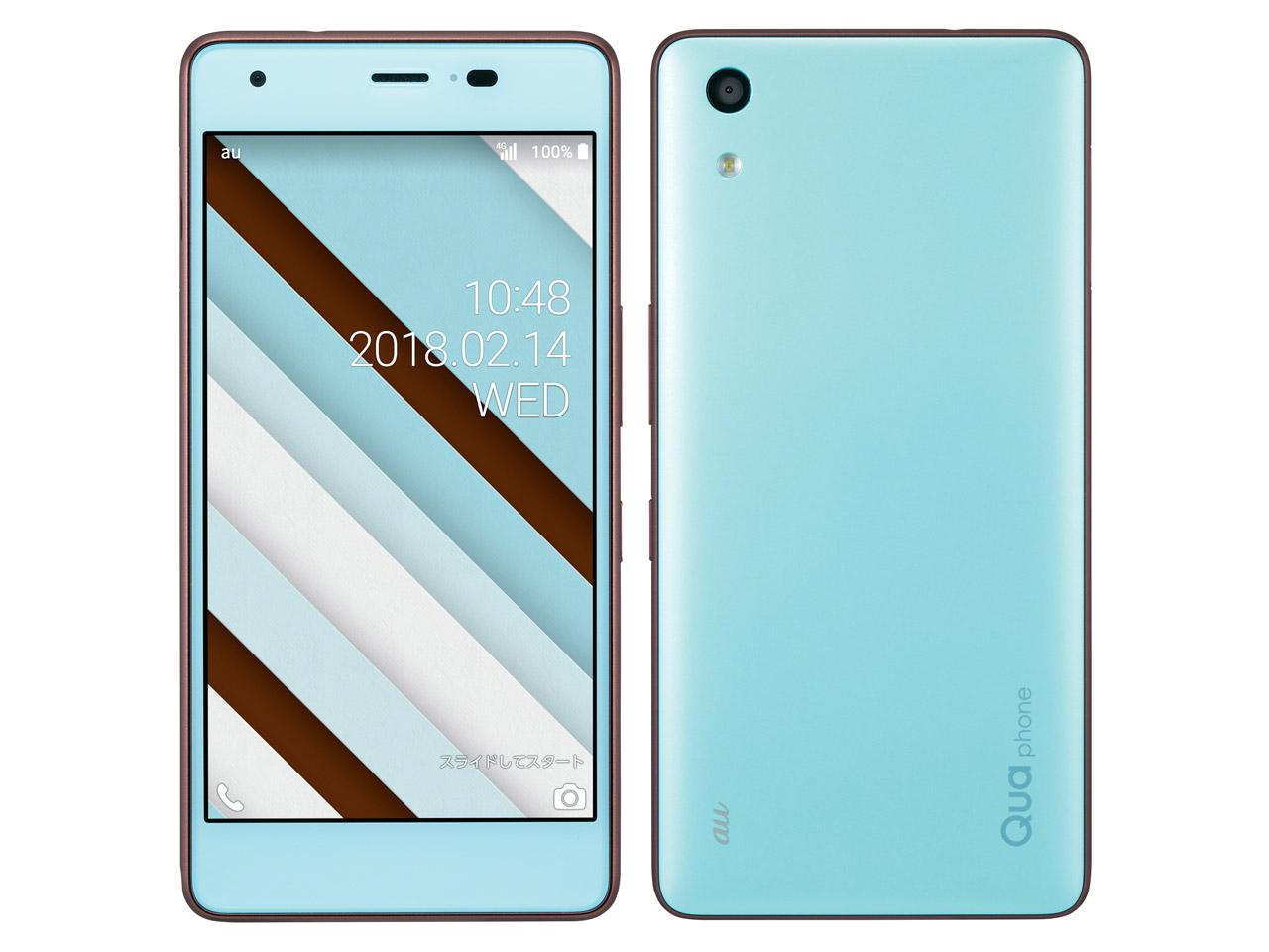 京セラ Qua phone QZ [チョコミント] SIMロック解除済 au 白ロム 2018年春モデル