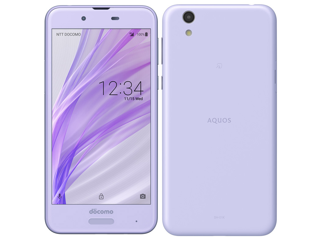AQUOS sense SH-01K [Frost Lavender] SIMロック解除済 docomo 白ロム 2017年冬春モデル