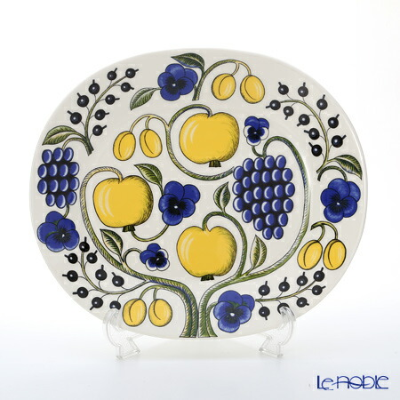 アラビア (ARABIA) パラティッシ イエロー オーバルプレート 36cm 食器 北欧 ブラック パープル 皿 お皿 ブランド 結婚祝い 内祝い