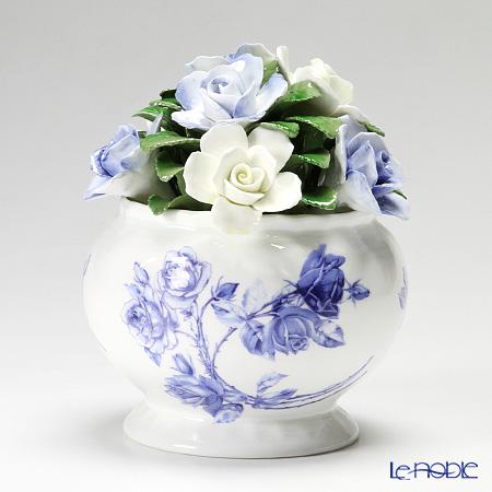 エインズレイ 陶花 エリザベスローズブルー カスケードボウル ミディアム 14.5cm【楽ギフ_包装選択】 お祝い