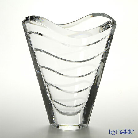 バカラ (Baccarat) ウェーブ 2-104-168 ベース(花瓶) 30cm【楽ギフ_包装選択】 ガラス お祝い ギフト おしゃれ フラワーベース