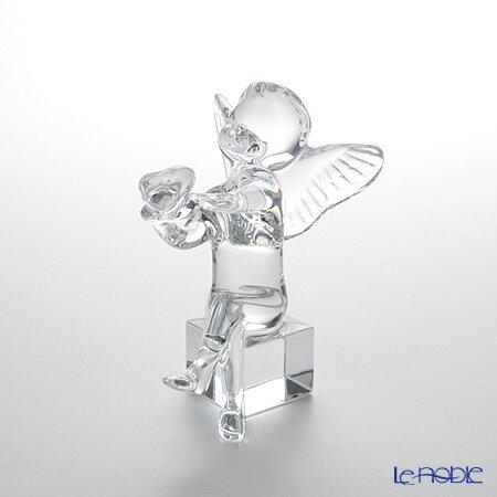 バカラ (Baccarat) オブジェ 2-100-883 エンジェル(ケルビム) ハート 11.5cm お祝い ギフト クリスマスオブジェ 置物 人形 フィギュリン インテリア