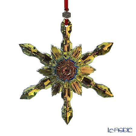 バカラ (Baccarat) オブジェ 2-804-665 オーナメント スノーフレーク イエローゴールド 11cm お祝い ギフト クリスマスオブジェ 飾り 装飾